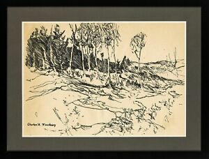 Charles H. Woodbury (1864-1940) INK - LANDSCAPE !!!