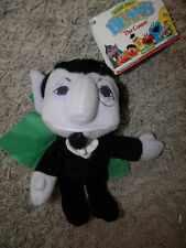"Sesame Street Beans - 7"" The Count Plush Stuffed Animal Toy - Tyco 1997 vintage"
