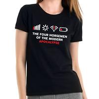 The Four Horsemen of the Modern Apocalypse Nerd Geek Fun Damen Girlie T-Shirt