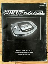 NOTICE SEULE CONSOLE NINTENDO GAMEBOY ADVANCE PAL EURO BOOKLET ANLEITUNG GBA