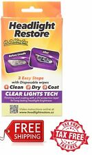Car Truck Headlight Lens UV Protection Wipes Clear System Restore Kit Cleaner