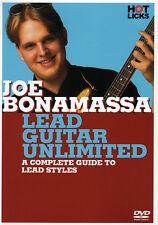 JOE BONAMASSA Lead Guitar Unlimited Instructional DVD VIDEO to Lead Styles & PDF