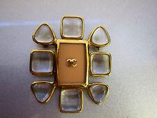 Original CHANEL Brosche Byzantin Kollektion vergoldet nude Glas brooch gold 4467