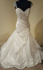 "Sophia Tolli Y11412 ""Meera"" Ivory Size 12 Wedding Dress"