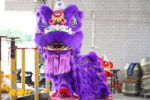 Lion Dance MASCOT Costume Wool China Folk Art Southern Lion for Two Adult