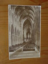 POSTCARD,   THE NAVE, EAST; LICHFIELD CATHEDRAL, STAFFS
