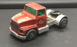 MATCHBOX 1/32 SCALE SUPER KING #K16/18 DIE-CAST RED 1973 FORD LTS SERIES TRACTOR