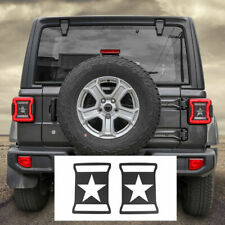 Rear Sides Tail Light Lamp Guards Trim Cover Black For Jeep Wrangler Jl 2018 20 Fits Jeep