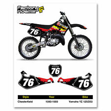 1993-1995 YAMAHA YZ 125 250 Custom Number Plates by Enjoy MFG