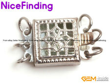 3 Strands Filigree White Gold Filled Clasp Findings For Jewelry Making DIY