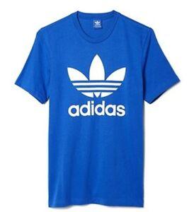 Adidas Originals Trefoil Men's Royal Blue Retro T Shirt Size S-XL – AJ8829