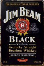 Jim Beam Black Rustic Look Vintage Tin Signs Man Cave, Shed & Bar Sign