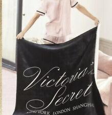 Victoria'S Secret Black Sherpa Blanket New 50 X 60