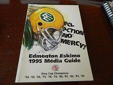 1995 EDMONTON ESKIMOS media guide/fact book CFL Nice condition!