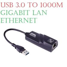 USB 3.0 to Ethernet RJ45 LAN Network Adapter 10/100/1000 Gigabit Computer PC UK