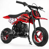 51cc 2-Stroke Gas Power Mini Pocket Dirt Bike Dirt Off Road Motorcycle (Red)