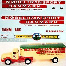 Scania Møbeltransport Danmark Autoarticolato 1:43 Decalcomania
