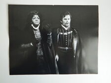 2 Foto photo originale ZOË DOMINIC Opera Don Carlos José Carreras Grace BUMBRY