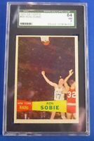 RON SOBIE  #69 SGC Graded 7 (NM) 1957 - 1958 Topps New York Knicks short print
