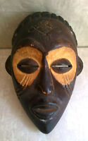 ZAIRE CHOKWE African Art Carved Wood Tribal Mask Congo