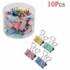 10Pcs Pince de fer bureau maison papeterie portable mignon pratique 19mm durable