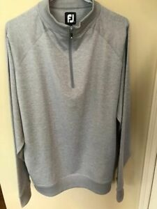 New Without Tags Footjoy Men's Large 1/4 Zip Pullover-Grey!