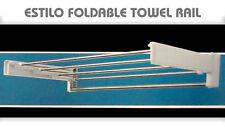 ESTILO Foldable Stainless Steel & Plastic Towel Rail Wall Mounted