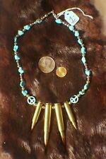 turquoise bullet necklase , original HAND MADE . ONE OF A KIND ! BEAUTIFUL !
