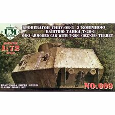 Unimodel 609 Armoured Railroad Car with T-26-I Turret 1/72 scale plastic kit