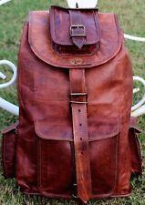Women's Vintage Pure Leather Backpack Travelling Laptop Rucksack Bag
