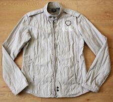 G-Star Raw Denim Ladies Biker Style Beige Jacket Size Large