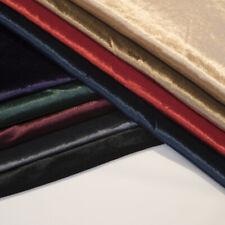 "Velvet Gloss Finish Fabric Premium 1-Way Stretch 60"" for Soft Furnishing & Dress"