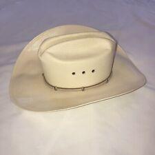Western Resistol VTG Panama Straw Long Oval EUC Cowboy Hat 6 3/4