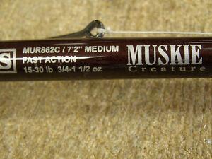 """G. Loomis MUR862c Muskie Creature 7'2"""", Fast Action w/ Abu Garcia 6500CP Reel"""