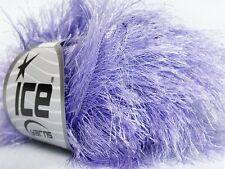 38Yd Light Lilac Extra Long Eyelash Yarn Ice Luxurious Purple Fun Fur 42075 50gr
