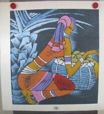 Xiao Ling 1998 Yunnan School Original Chinese Contemporary Art Woman & basket
