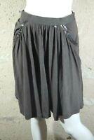 TARA JARMON Taille 36 Superbe jupe marron bronze en laine mélangée skirt