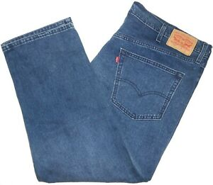 44x29 Levi Strauss 559 Relaxed Straight Blue Jeans 100% Cotton Red Tab Denim
