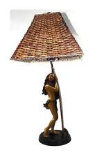 """Kim Taylor Reece """"Moe Kahakai"""" Hawaiian Hula Sculpture Lamp NIB"""