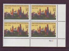 #3059 SMITHSONIAN INSTITUTION. MINT PLATE BLOCK. F-VF NEVER HINGED!