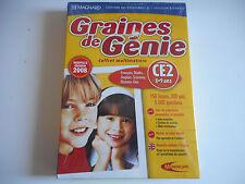 JEU DVD ROM PC NEUF- GRAINES DE GENIE CE2 / 8-9 ANS