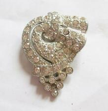 Rhinestone Silver Art Deco Costume Jewellery