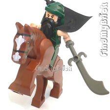 NEW Lego Three Kingdoms Custom Guan Yu Minifigure & Horse 三国の關雲長 青龍偃月刀 と 赤兔 關聖帝君