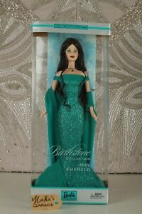 """BARBIE BIRTHSTONE COLLECTION MAY """"EMERALD"""" COLLECTOR EDITION- NRFB"""