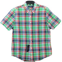 Polo Ralph Lauren Men's Authentic Indian Madras Plaid Shirt Short Sleeve NEW $90