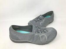 NEW! Skechers Women's BREATHE EASY BOLD RISK Slip On Shoes #23228 Grey 166O kk