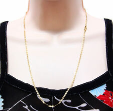 14k Solid Gold 3 Tone Stamped Valentino Necklace Chain 24 Inches Long 2.1 mm