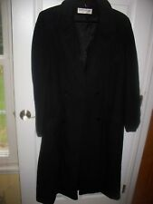 KASHMIRACLE by WELLINGTON BLACK COAT W/BUTTON-IN LINER SIZE 12