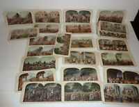 Antique Stereoscope Views Lot of 25 Colored Scenes From The Bible  S-33