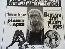 Planet of the Apes Vintage Poster Pressbook Pota Classic Science Fiction 1971